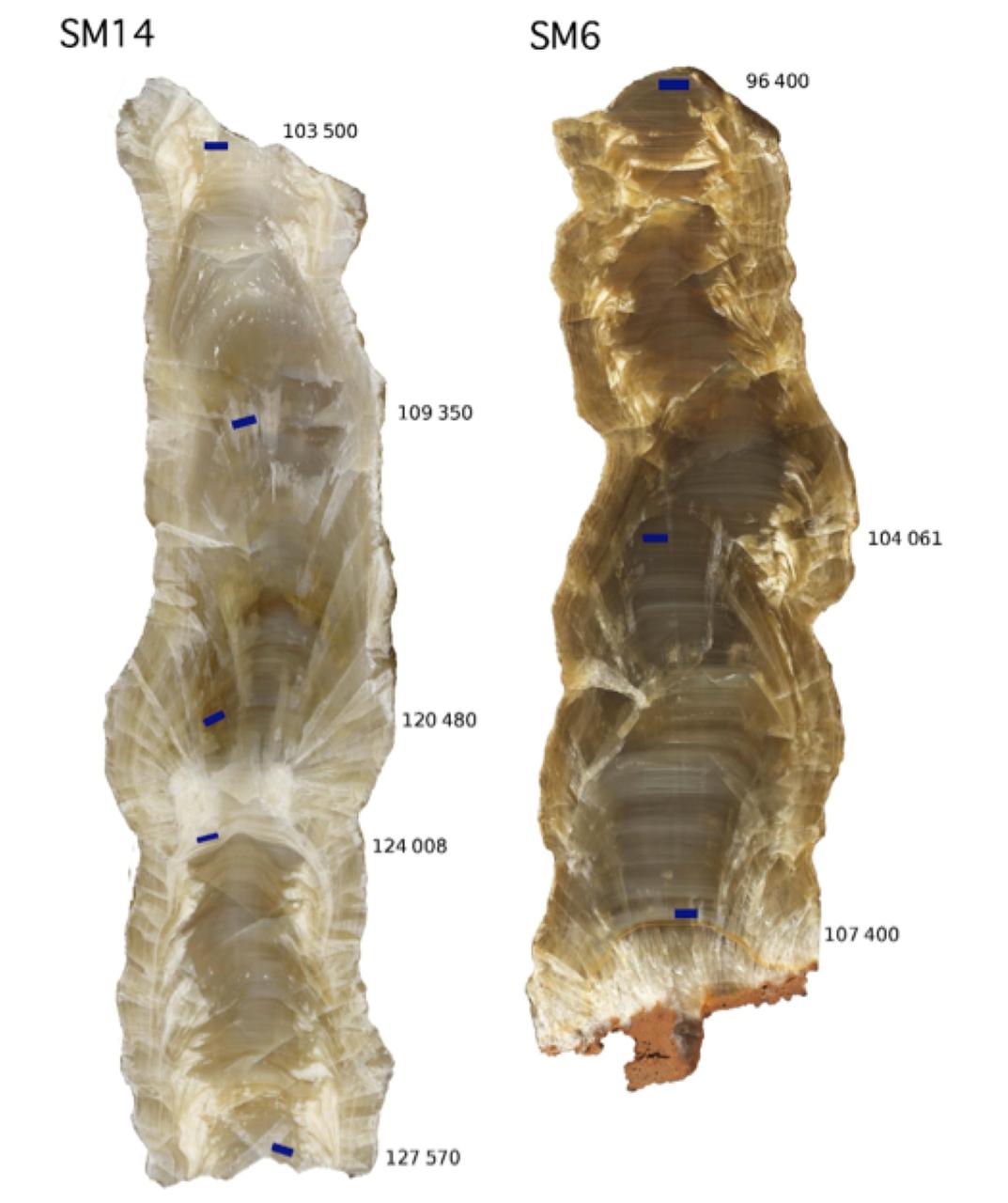 stalagtite cut saint marcel cave i couchoud