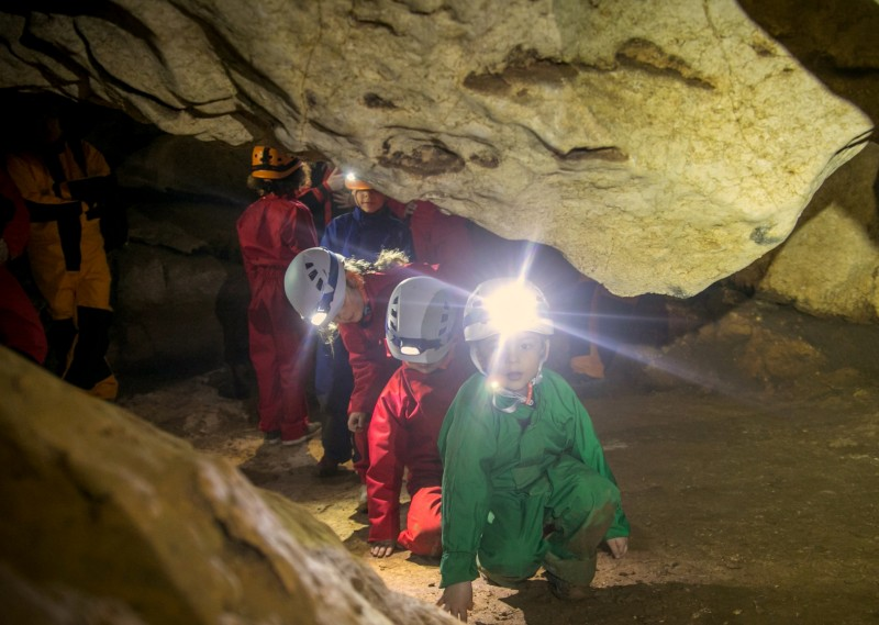 a great familly adventure cave exploration from 5 years old activity saint marcel cave 143