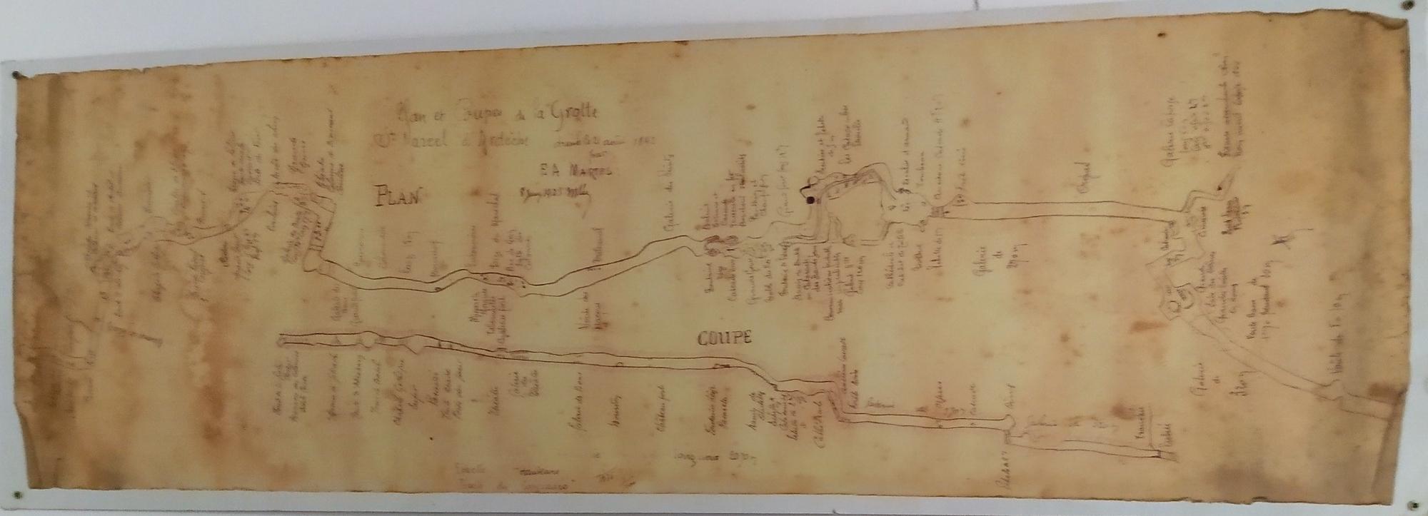 saint marcel cave network topography E.A.Martel